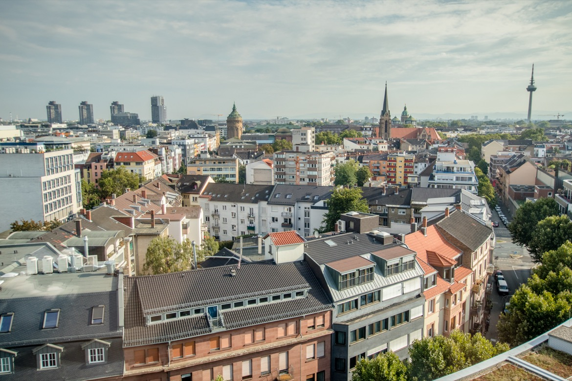 The view from the Hilton Mannheim
