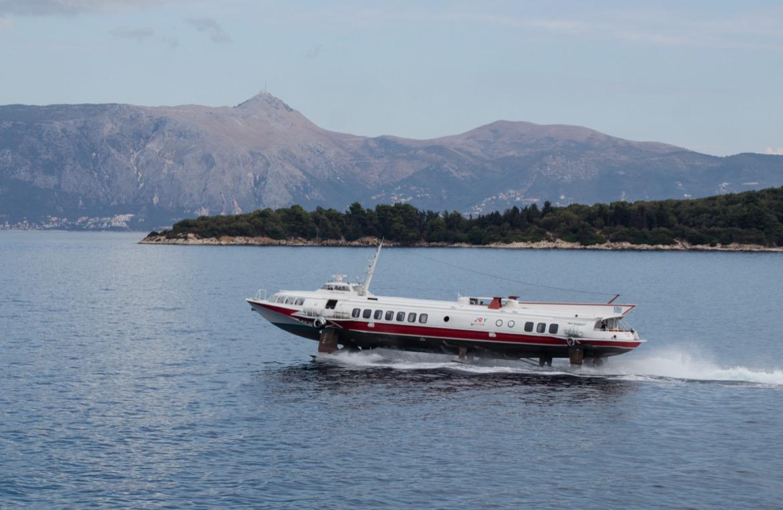 The ferry between Corfu and Albania